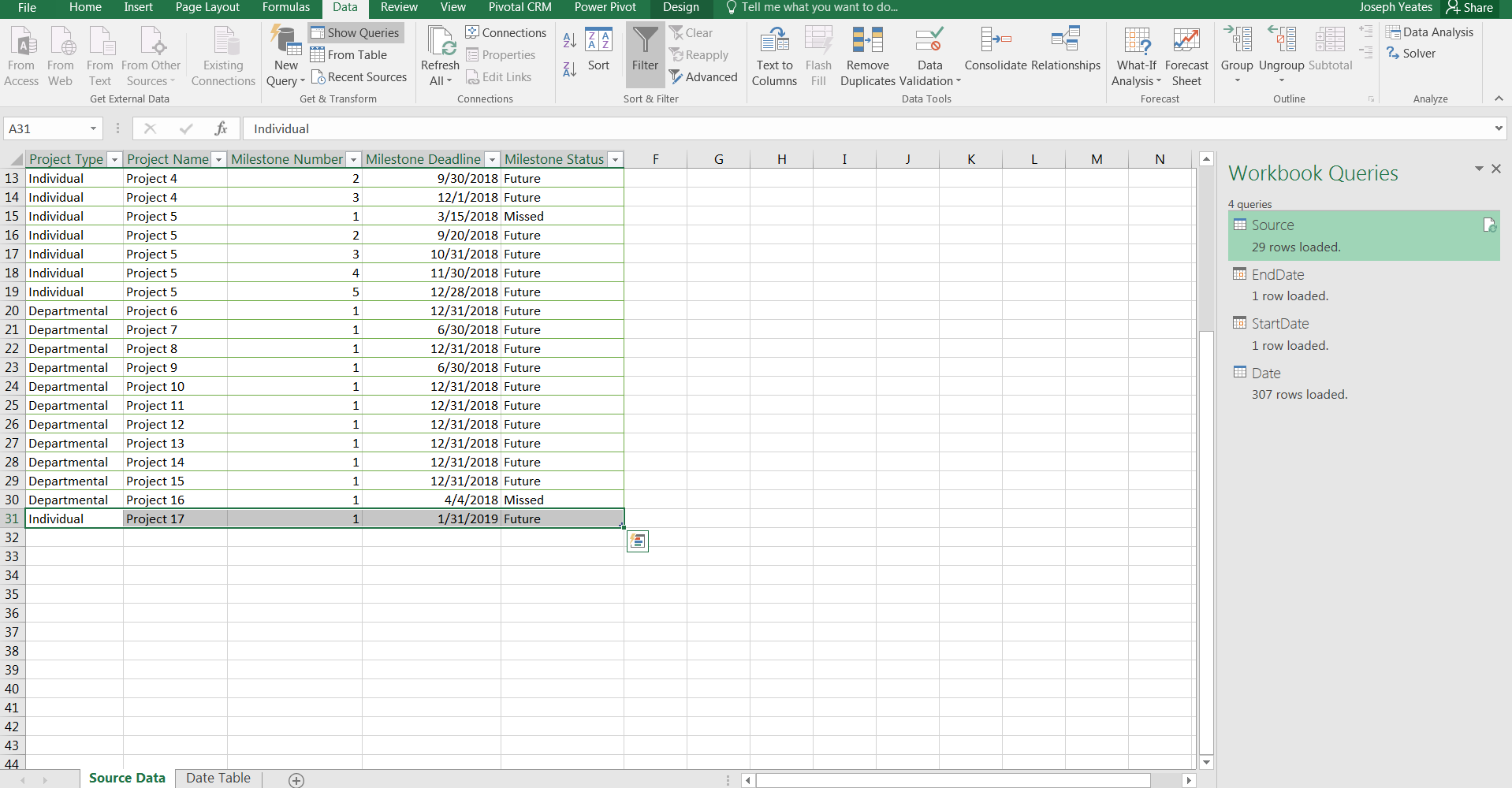 Power Query – Dynamic Date Table – Feathers Analytics