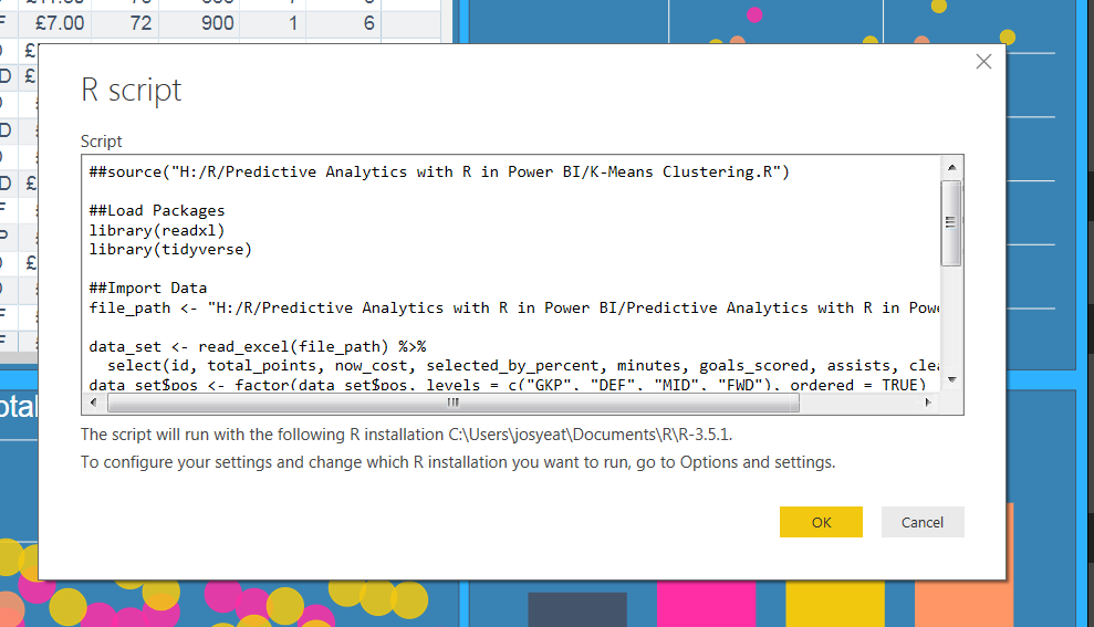 Predictive Analytics with R in Power BI – Feathers Analytics